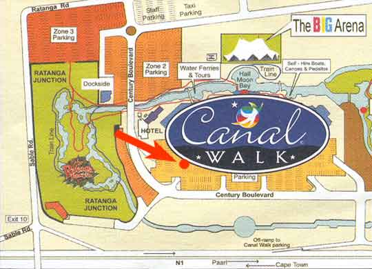 Map Cattle Baron - Canal Walk in Century City, Blaauwberg, Cape Town, Western Cape, South Africa
