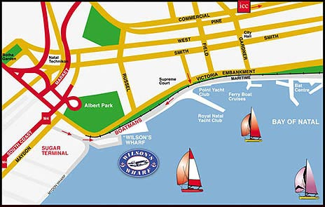 Map Zack's @ Durbans Waterfront in Point Waterfront, Durban, Durban and Surrounds, KwaZulu Natal, South Africa