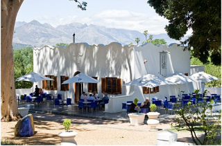 Picture Bistro All�e Bleue in Franschhoek, Cape Winelands, Western Cape, South Africa