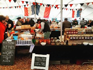 Picture Blaauwklippen Family Market in Stellenbosch, Cape Winelands, Western Cape, South Africa