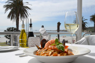 Picture Blues Restaurant in Camps Bay, Atlantic Seaboard, Cape Town, Western Cape, South Africa