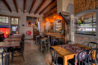 Picture Caf� Manhattan in De Waterkant, Atlantic Seaboard, Cape Town, Western Cape, South Africa