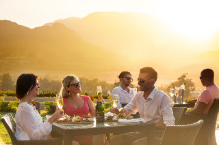 Picture Haute Cabriere Cellar Restaurant in Franschhoek, Cape Winelands, Western Cape, South Africa