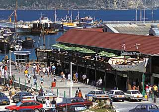 Picture Wharfside Grill Restaurant - Mariner's Wharf in Hout Bay, Atlantic Seaboard, Cape Town, Western Cape, South Africa