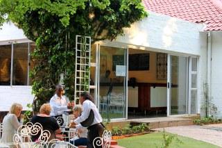Picture Tea Garden at Acorn Lane in Sandhurst, Sandton, Johannesburg, Gauteng, South Africa